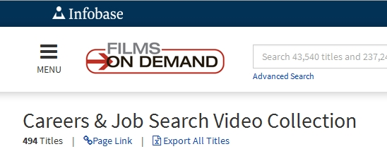 Films of Demand interface