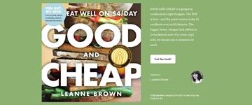 Cover of Good and Cheap Cookbook