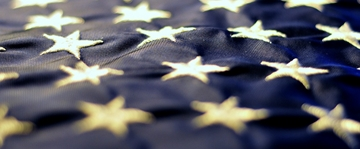 Stars on the American flag.