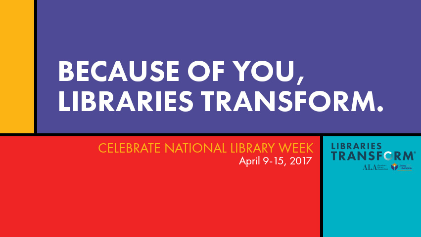 National Library Week graphic