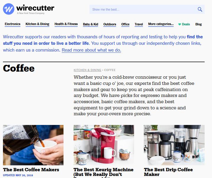 Wirecutter website