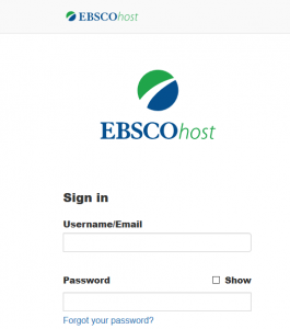 OneSearch or EBSCOhost login