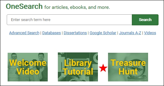My union library library tutorial and treasure hunt icons on the library homepage fandeluxe Choice Image