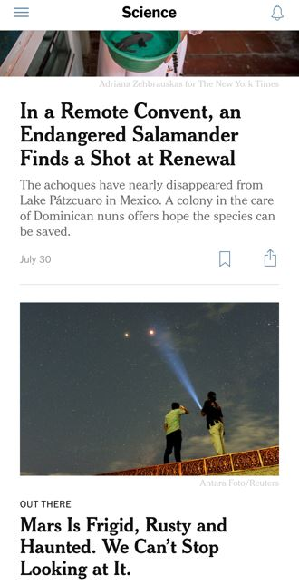 Example Image from New York Times App