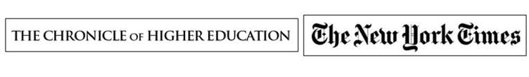 New York Times and Chronicle of Higher Education logos